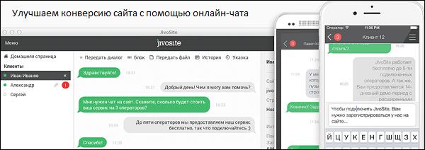 Увеличиваем конверсию с помощью онлайн-чата Jivosite