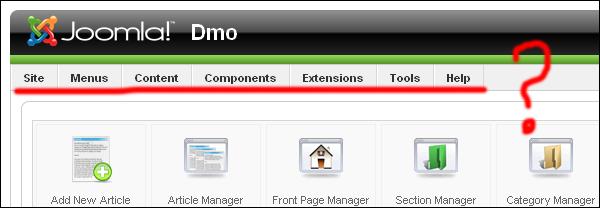 Ошибки в админке Joomla 1.5 (выпадающее меню + авторизация)